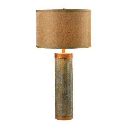 """Moore 30.38"""" H Table Lamp with Drum Shade - Wayfair"""