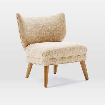 Retro Wing Chair - Vintage Crosshatch, Dandelion - West Elm