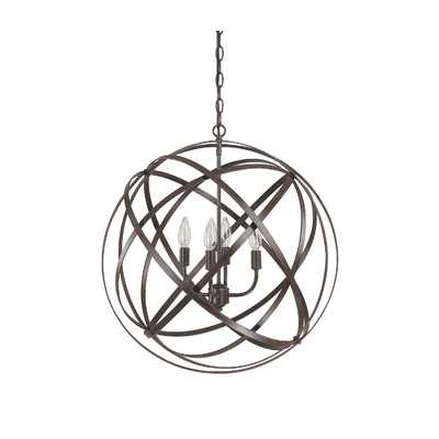 4 Light Globe Pendant - Wayfair