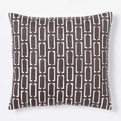 Mid Century Crewel Bracket Geo Pillow Cover - West Elm