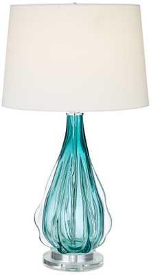 Claudette Glass Table Lamp - Lamps Plus