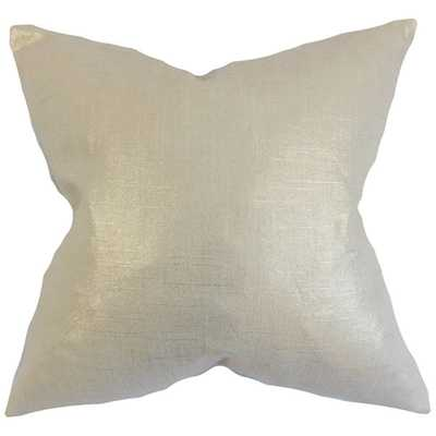 Florin Antique Gold Solid 18-inch Feather Filled Throw Pillow - Overstock