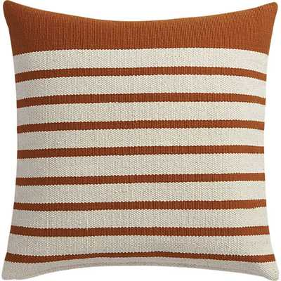 "Division rust 20"" pillow with feather insert - CB2"