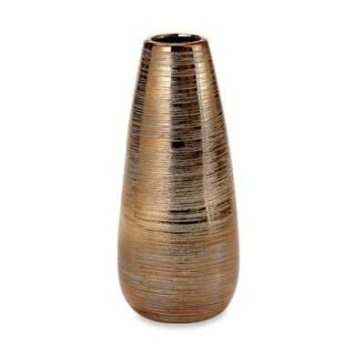 Privilege Small Ceramic Vase in Gold - Bed Bath & Beyond