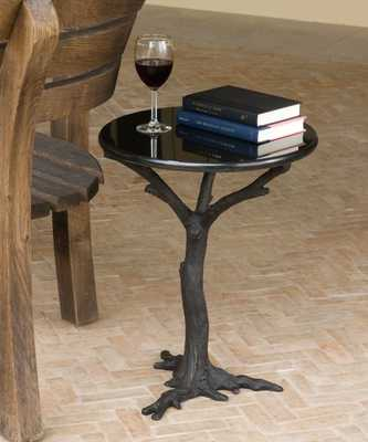 Faux Bois Side Table - Bliss Home and Design