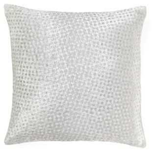 Dot 16x16 Silk-Blend Pillow, White, down/feather insert - One Kings Lane