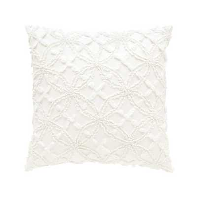 "Candlewick Cotton Throw Pillow - 18"" - Down/Feather Insert - AllModern"