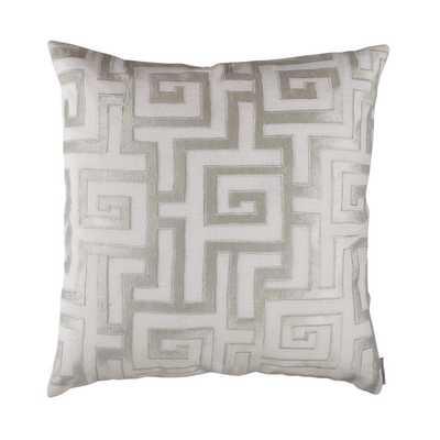 Onasis Linen Throw Pillow - White/Ice Silver (Down/Feather Insert) - Wayfair