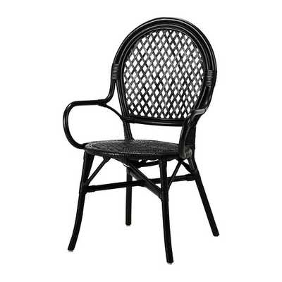 "Ã""LMSTA Chair, rattan, black - Ikea"