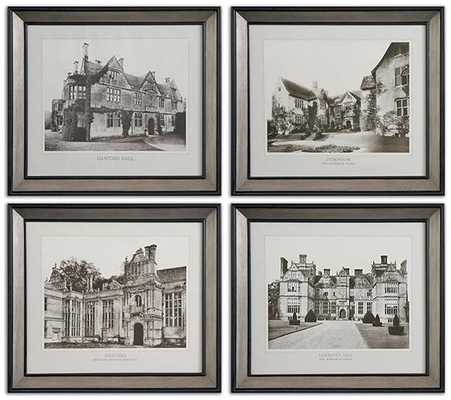 ENGLISH COTTAGES FRAMED WALL ART - SET OF 4 - Home Decorators