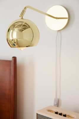 Long Neck Gumball Sconce - Gold - Urban Outfitters
