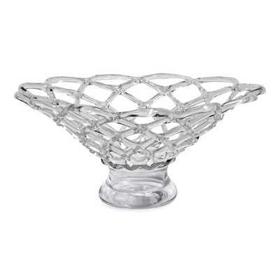 Large Glass Web Bowl - High Fashion Home