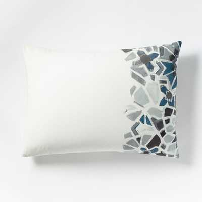 Organic Stained Glass Floral King Sham, Pale Harbor, Insert Sold Separately - West Elm
