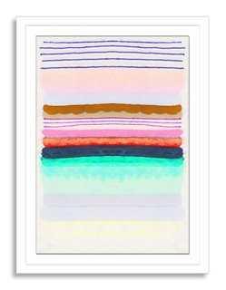 "Kristi Kohut, Sugared Stripe- 18""x24""- Framed - One Kings Lane"