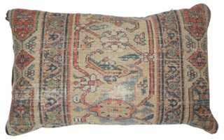 Pillow w/ Antique Beige Persian Rug - One Kings Lane