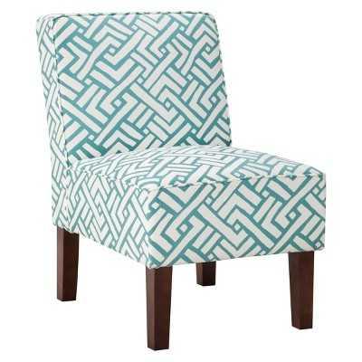 Slipper Chair - Turquoise Geo - Target