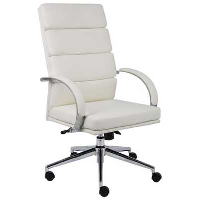 Caressoft Plus Adjustable High-Back Office Chair in Chrome - AllModern