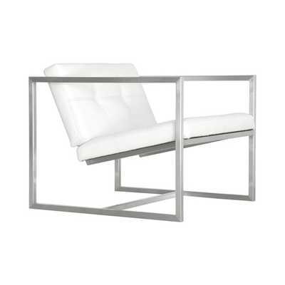 Delano Arm Chair-White Leather - AllModern