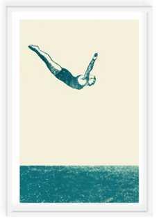 "Alanna Cavanagh, Dive In - 18"" x 22"" - framed - One Kings Lane"