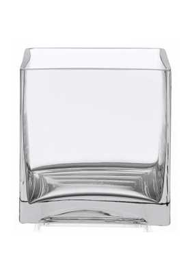 "Royal Imports 4"" square clear glass vase - Amazon"