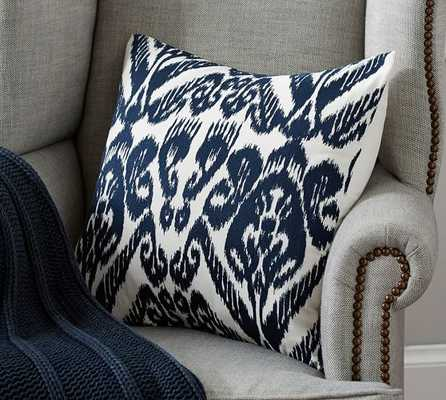 Josie Ikat Embroidered Pillow Cover - Pottery Barn