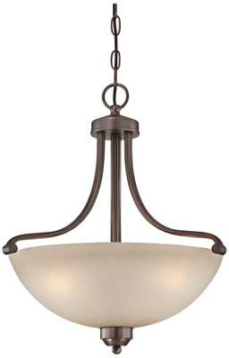 "Paradox Collection 18"" Wide Bronze Pendant Chandelier - Lamps Plus"