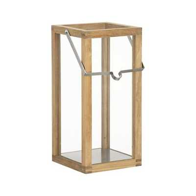 Crosby Small Teak Wood Lantern - Crate and Barrel