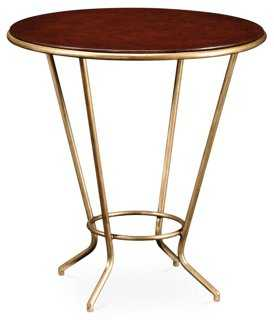Gilded Iron Side Table, Gold - One Kings Lane