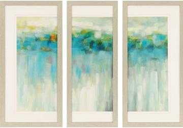 "LIGHTS ON THE BEACH FRAMED WALL ART - SET OF 3-39""H x 2""D-Framed - Home Decorators"