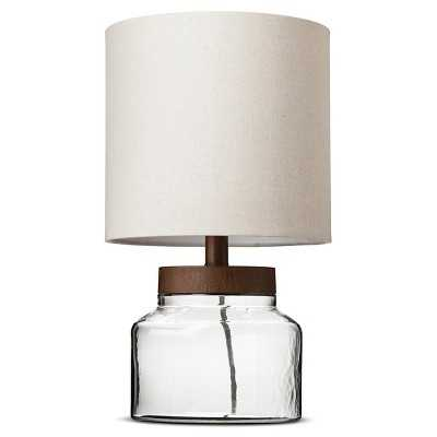 Wood & Glass Fillable Uplight (Includes CFL Bulb) - Target