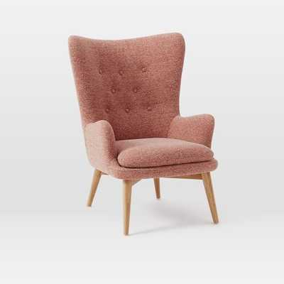 Niels Wing Chair - Chili (Boucle) - West Elm