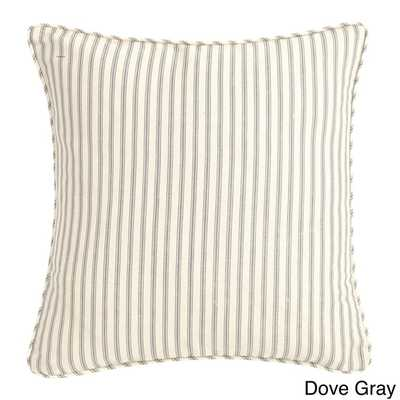 Dove Gray 18-inch Decorative Pillow-Polyester Insert - Overstock