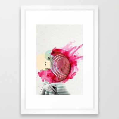 "Bright Pink - 15"" X 21"" - Framed - Society6"