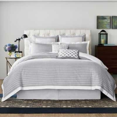 Soleil Duvet Cover in Grey - Bed Bath & Beyond