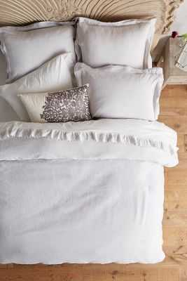 Soft-Washed Linen Duvet - Anthropologie