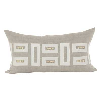 "V Rugs & Home Sur Long Pillow-Beige hue-26""W x 14""H-Insert included - Zinc Door"