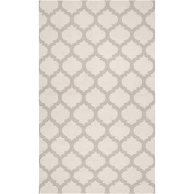 Victor Oatmeal & White Area Rug - Wayfair