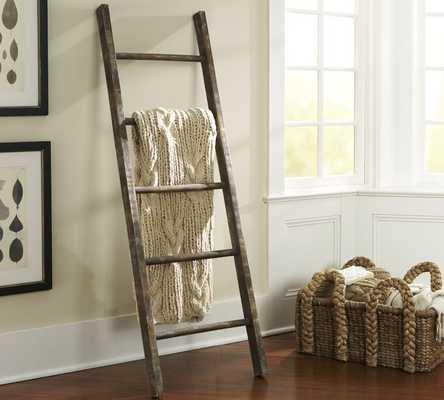 PB FOUND RUSTIC WOOD LADDER - Pottery Barn