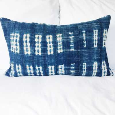 Authentic Indigo African Mudcloth Lumbar Pillow Cover - Etsy