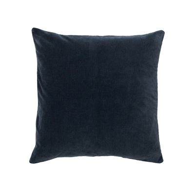 "Velvet Pillow - 20 "" L X 20 "" W - Cobalt - Down feather insert - Domino"