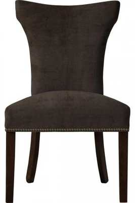 CUSTOM CONTEMPORARY CURVED-BACK PARSONS CHAIR - Home Decorators