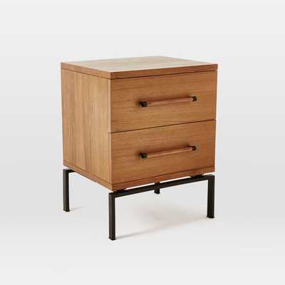 Nash 2-Drawer Nightstand - Teak - West Elm