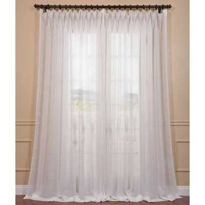 EFF Signature Off White Extra Wide Double Layer Sheer Curtain Panel - Overstock