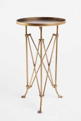 Metal Accordion Side Table, Brass - Urban Outfitters