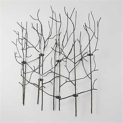 Twiggy Metal Wall Candle Holder - Crate and Barrel