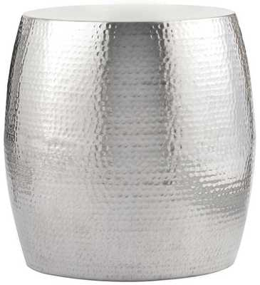 Baylee Aluminum Accent Table - Shiny aluminum - Home Decorators