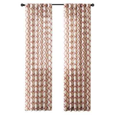 "Nakita Linen Single Curtain Panel - Brick - 84"" L x 50"" W - Wayfair"