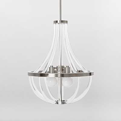 Acrylic Curve Chandelier - West Elm