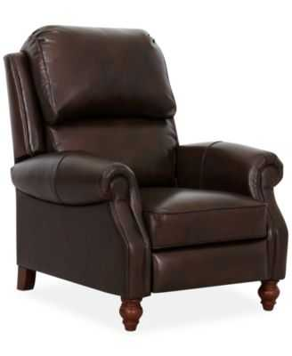 Barrett Leather Recliner - Macys