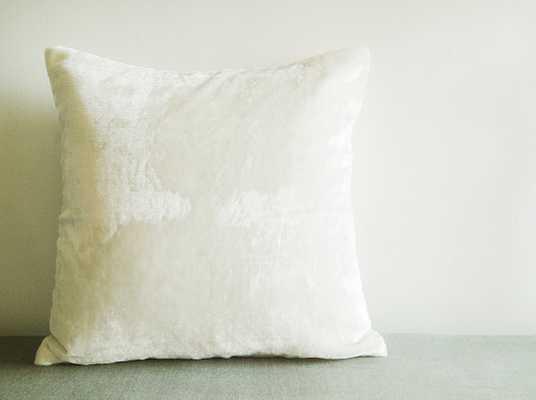 Off White Velvet Pillow Cover - 20Sq. - Insert Sold separately - Etsy